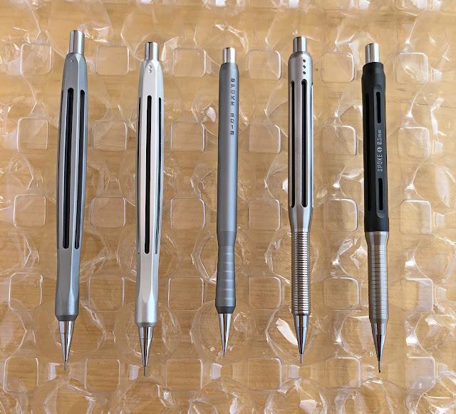 Spoke pencils 1 to 4