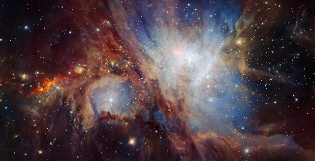 This spectacular image of the Orion Nebula star-formation region was obtained from multiple exposures using the HAWK-I infrared camera on ESO's Very Large Telescope in Chile. This is the deepest view ever of this region and reveals more very faint planetary-mass objects than expected.  Credit: ESO/H. Drass et al.