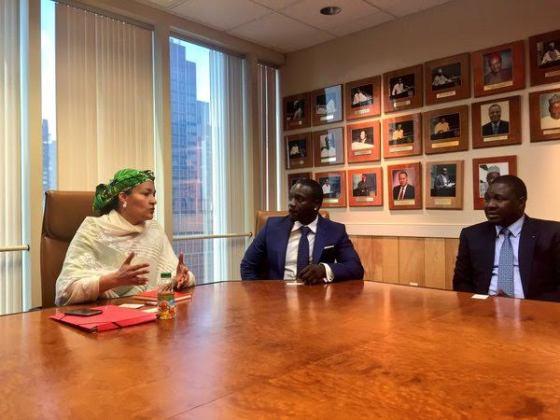 2 Photos: Akon visits Nigeria's Minister of Environment, Amina Mohammed in NY