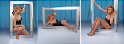 Z Framed - Prop and Poses for Genesis 3 and 8 Female