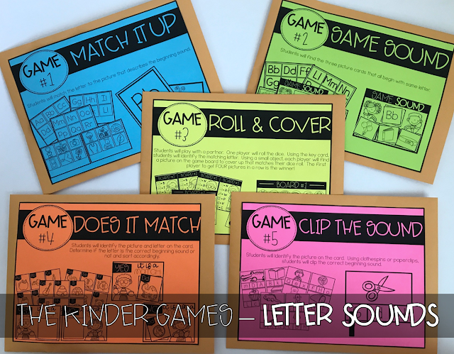 KINDER Games! {Letter Sounds}