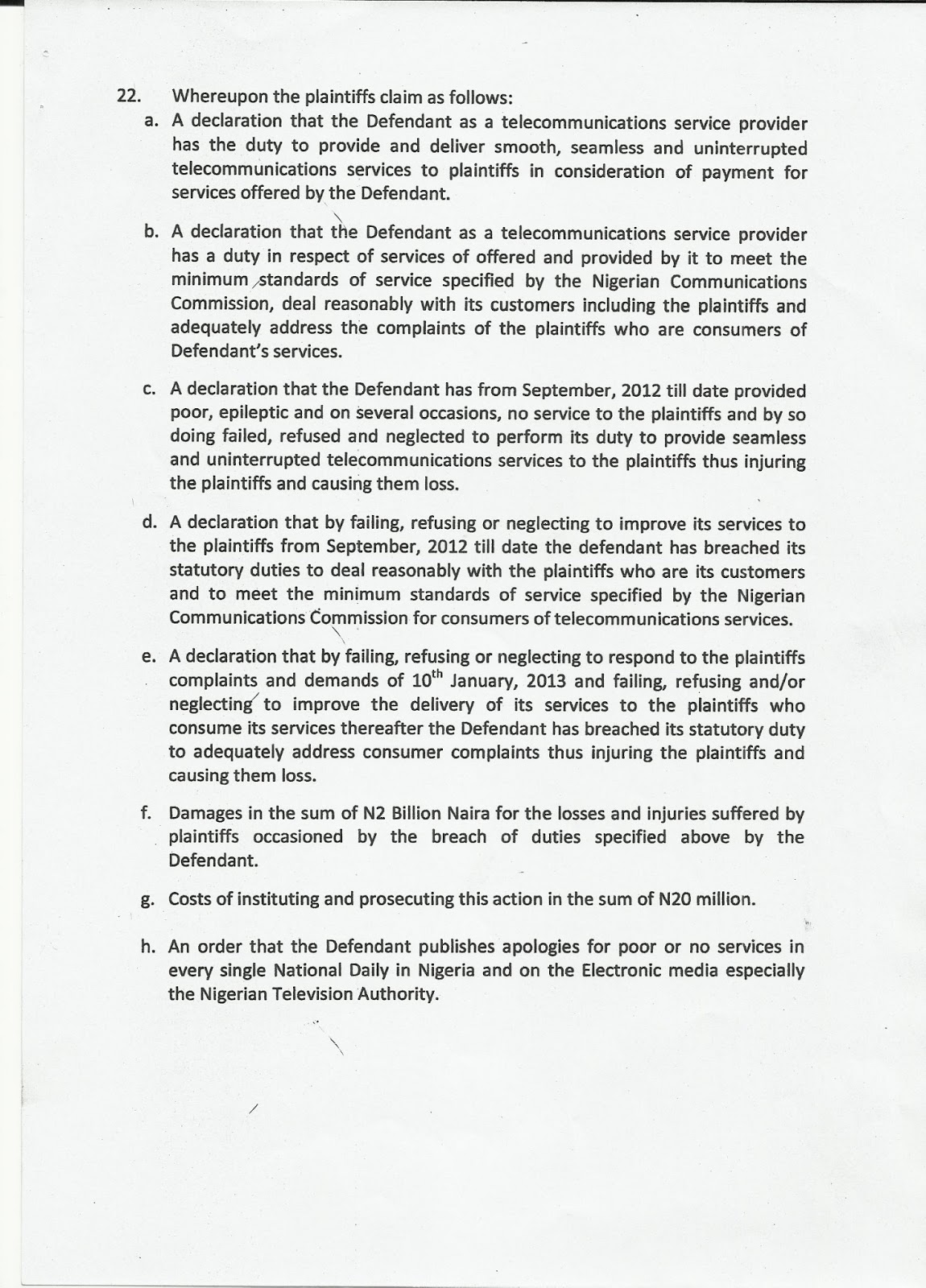 stattutory declaration nigeria