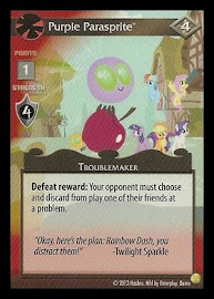 My Little Pony Purple Parasprite GenCon CCG Card