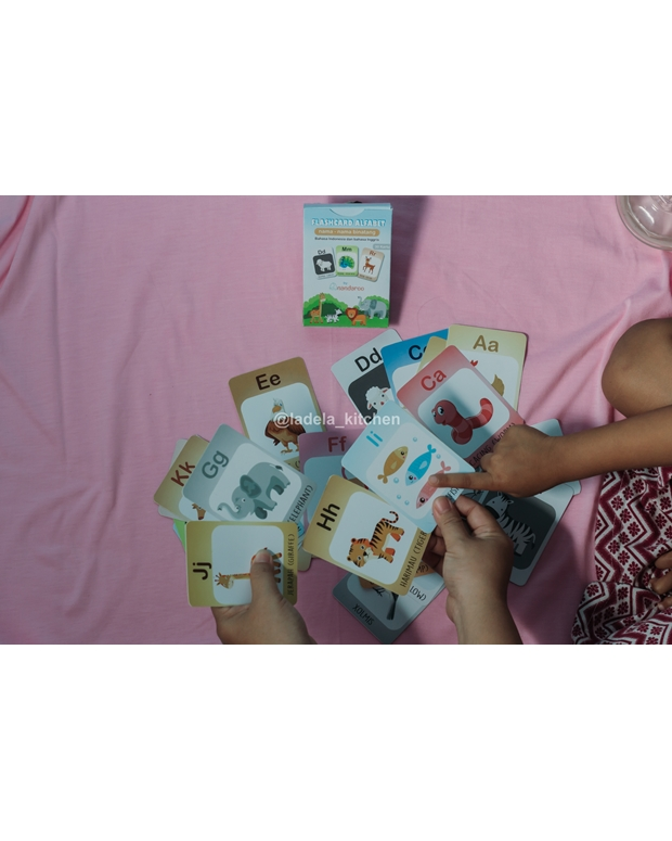 Flash Card Alfabet Seri Binatang Lengkap