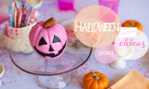 Party Halloween para chicas by Habitan2 event planner| Mesa dulce o candy bar para halloween en tonos rosas y naranjas