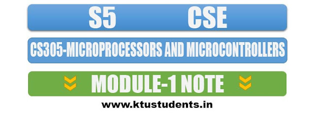 note for cs305 microprocessors and microcontrollers module 1