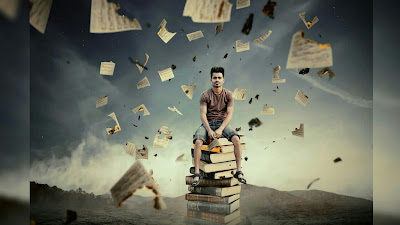 The Burning Paper Photo Manipulation