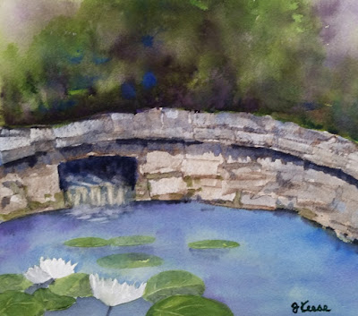 Creekview Pond Watercolor - JKeese