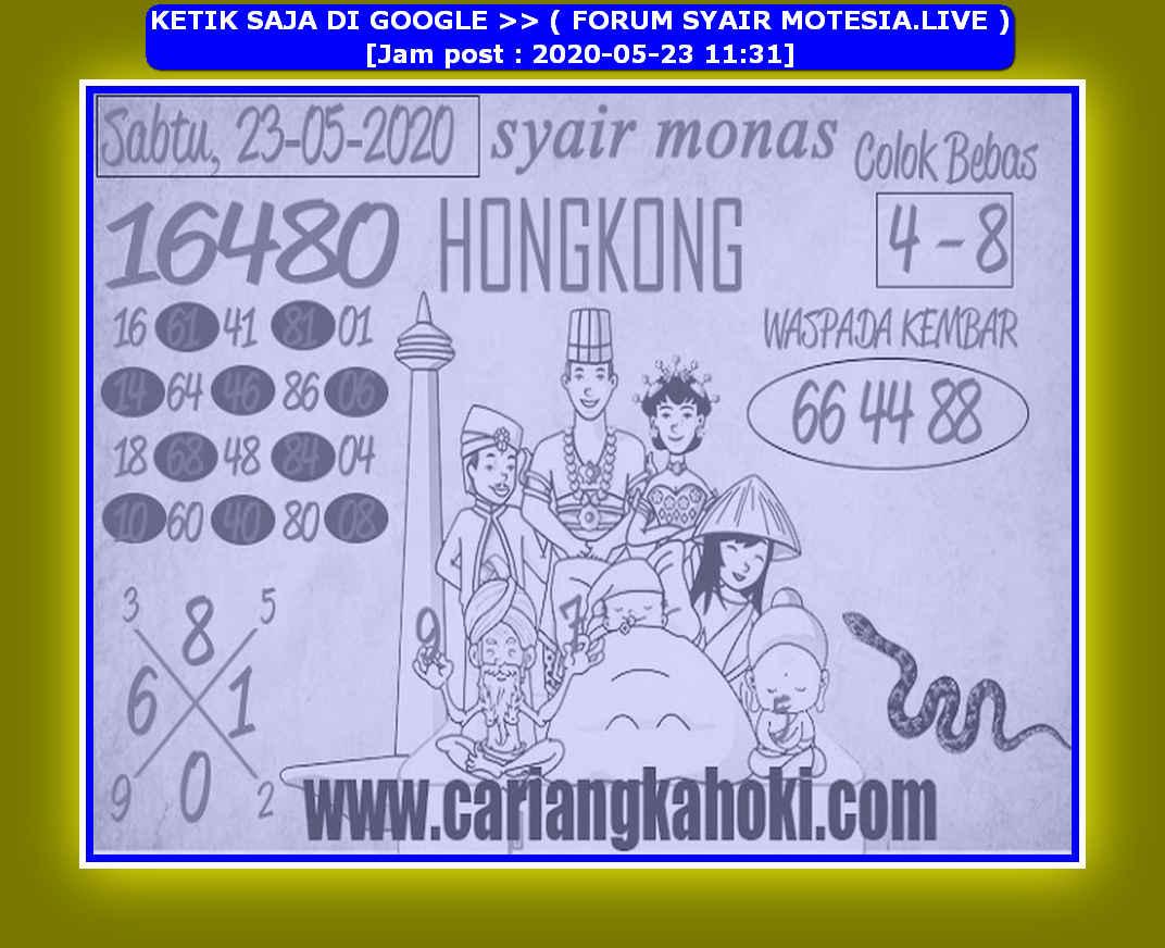 Kode syair Hongkong Sabtu 23 Mei 2020 130