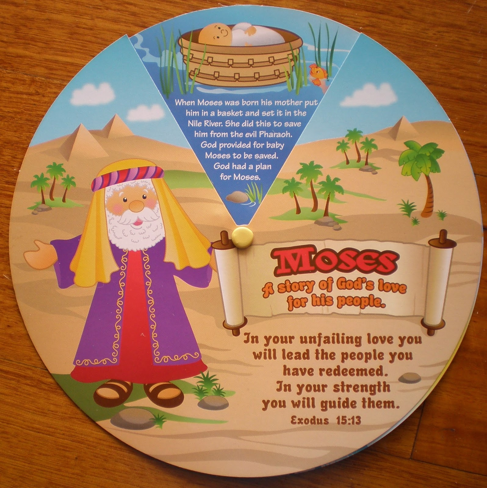 Petersham Bible Book Amp Tract Depot Moses Learning Wheel