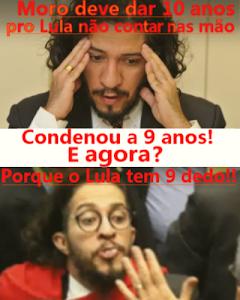 Jean Wyllys do PSOL queria que Sérgio Moro condenasse Lula a 10 anos