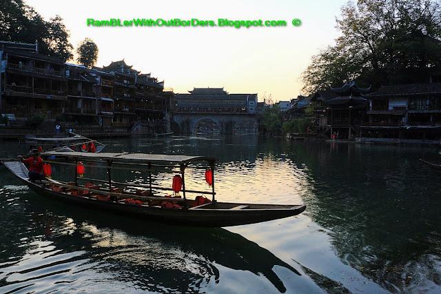 Boating, Riverside, Phoenix Fenghuang County, Hunan, China