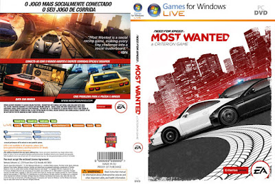 Jogo Need For Speed Most Wanted 2 PC DVD Capa