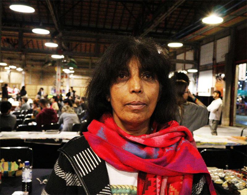 Líder guarani jaraguense, Sônia Barbosa, no evento Tepi. Foto: Marinaldo Gomes Pedrosa