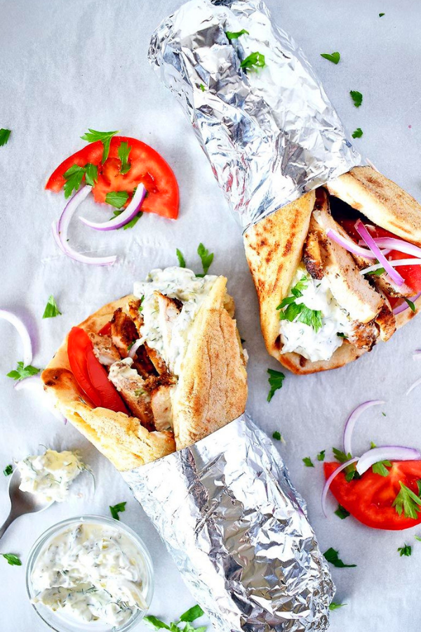 Chicken Gyros Recipe With Tzatziki Sauce