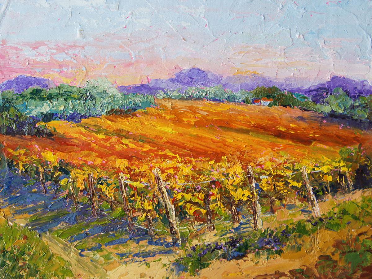Palette Knife Painters International Autumn Wineyard