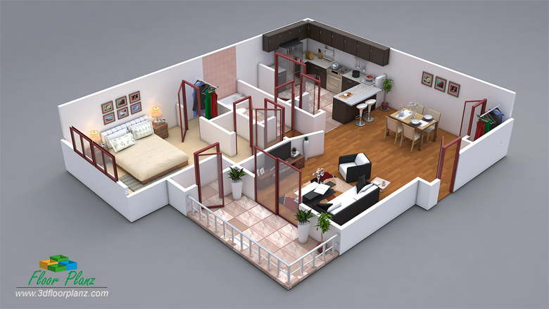 13 awesome 3d house plan ideas that give a stylish new - Design your own house plans online free ...