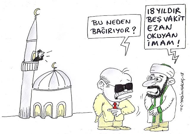 tayyip erdoğan ezan karikatür