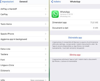 Rimuovi WhatsApp