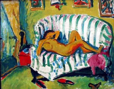 Erich Heckel - jeune fille couchée,1909.