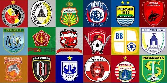 Daftar Logo 18 Klub Liga 1 2019