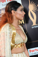 Apoorva Spicy Pics in Cream Deep Neck Choli Ghagra WOW at IIFA Utsavam Awards 2017 03.JPG