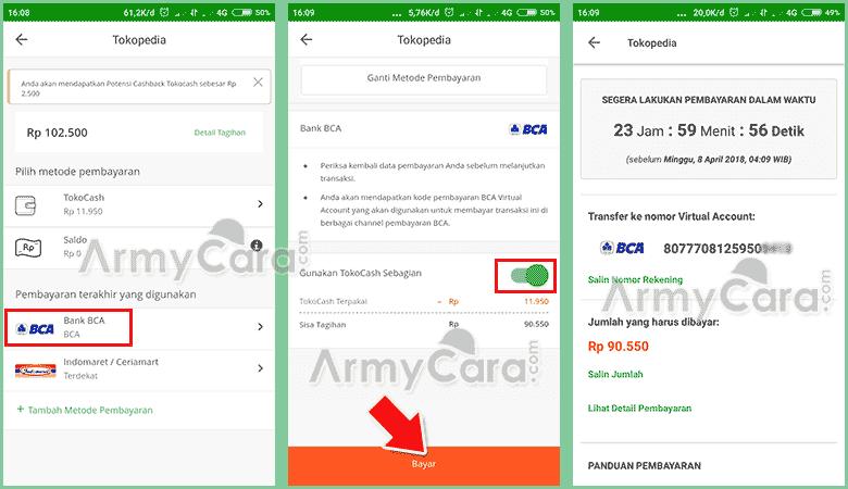 metode pembayaran tokopedia transfer bca virtual
