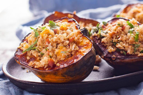 super food healthy dinner stuffed squash