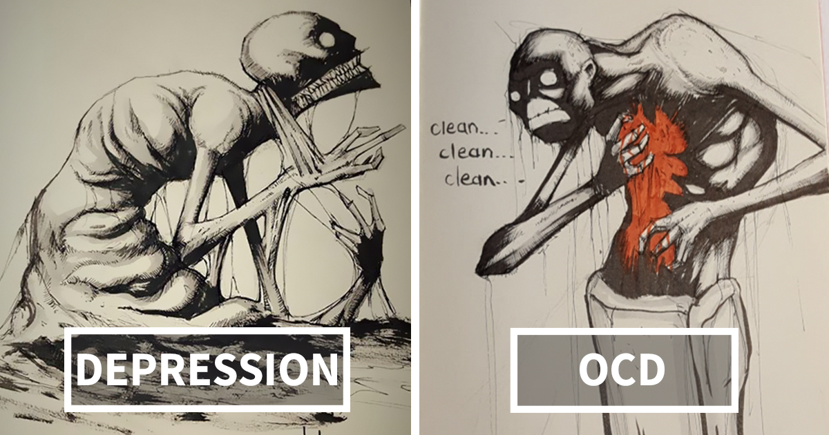 Artist Paints Mental Illnesses And Turns Them Into Realistic Illustrations