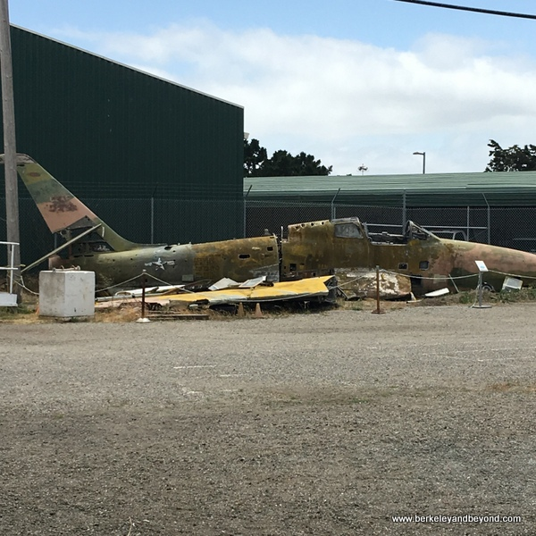 crashed plane at Oakland Aviation Museum in Oakland, California