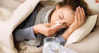 TIPS KESEHATAN ALAMI - Flu pada ibu hamil dapat berakibat fatal untuk janin didalam kandungan. Apalagi jika salah penanganannya, sang bayi akan beresiko terkena kelainan. Lantas bagaimana cara mengatasi sakit flu pada ibu hamil tanpa menggunakan obat-obatan?  Bagi wanita yang tidak mengandung, saat menderita flu bukan hal sulit untuk mengobatinya. Penyakit flu biasanya menyerang pada saat kondisi tubuh sedang tidak fit, bisa juga akibat perubahan cuaca. Namun untuk wanita hamil, jika menderita flu harus berhati hati, karena hal ini dapat berakibat fatal untuk janin. Karena apa yang dimakan atau diminum itu yang akan diserap oleh bayi didalam kandungan.    3 Akibat Fatal Yang Disebabkan Oleh Flu.  -Keguguran -Bayi prematur -Berat bayi ringan  Flu terbagi menjadi dua golongan, ada flu berat dan flu ringan. Gejala flu ringan pada ibu hamil ditandai dengan pilek, sakit tenggorokan, idung mampet dan bersin-bersin. Yang bahaya adalah gejala flu berat pada Ibu hamil.  Berikut ini ada beberapa tanda-tanda flu berat yang menyerang ibu hamil :  -Sesak nafas -Demam tinggi -Nyeri pada dada atau perut.  Cara Mencegah Terkena Flu Saat Hamil  Ada beberapa cara untuk mencegah agar tidak terkena flu pada saat hamil. Berikut tips mencegah terkena flu :  1. Makan teratur dan kaya nutrisi. Makanan untuk wanita yang sedang hamil perlu diperhatikan, pasalnya kebutuhan nutrisi untuk wanita yang sedang hamil meningkat drastis. Perbanyaklah makan daun hijau sebagai sumber zat besi, telur, susu dan lain-lain.  2. Olahraga ringan Olahraga tetap harus dilakukan walupun sedang hamil, agar tubuh tetap sehat. Jangan melakukan olahraga berat, hanya olahraga ringan saja yang boleh dilakukan, khawatir berdampak jelek pada janin dalam kandungan.  3. Pakailah Masker jika ingin bepergian menggunakan kendaraan roda dua agar terhindar dari debu.  4. Cuci tangan sebelum makan. 5. Kondisi dapur yang higienis 6. Saat bersin, jangan ditutup menggunakan tangan. Boleh menggunakan tangan asalkan tangan segera d