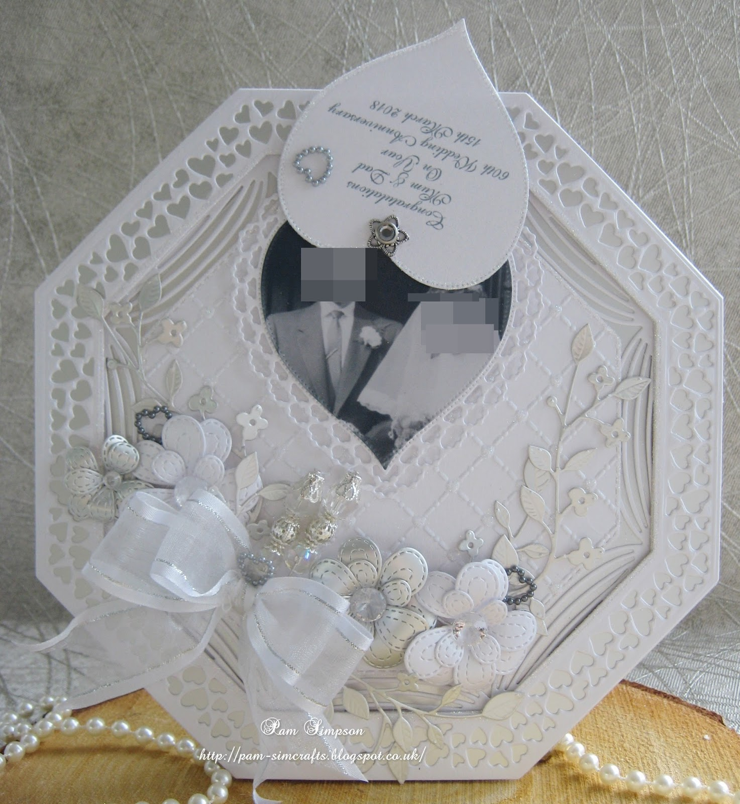 Pamscrafts Diamond Wedding Anniversary Card