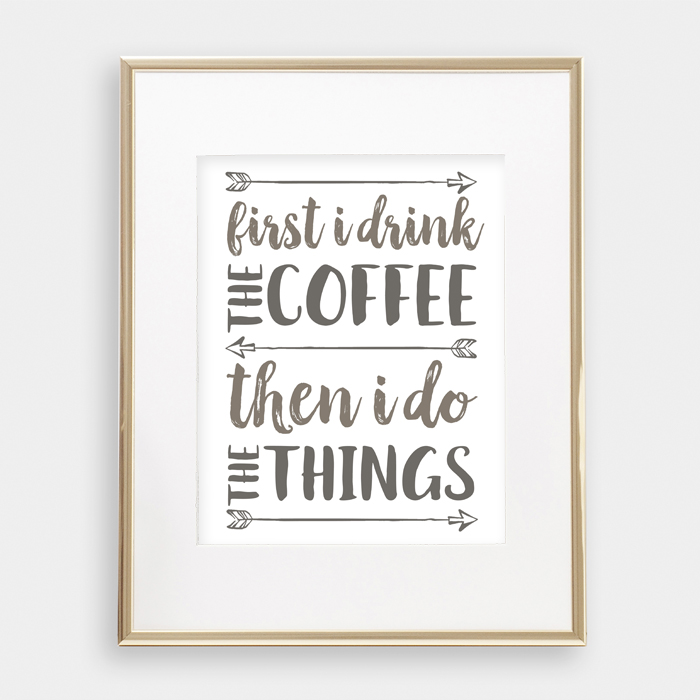 Six Coffee Printables | Six printables all about everyone's favorite beverage: COFFEE! 8x10 prints perfect for any decor.