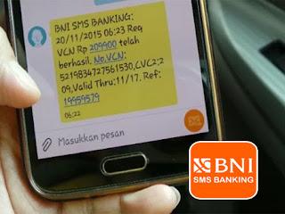 Format BNI SMS Banking