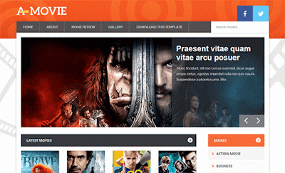 Movie - Blogger template image