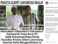 Hoax Terkait Habib Rizieq Shihab Mualafkan Pendeta Gilbert Lumoindong
