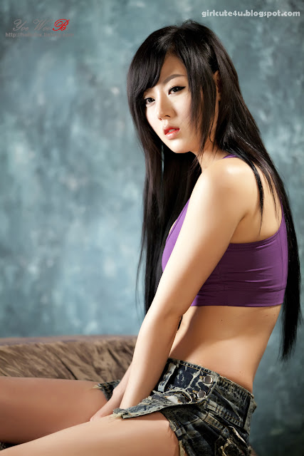 12 Hwang Mi Hee-Purple Sport Bra-very cute asian girl-girlcute4u.blogspot.com