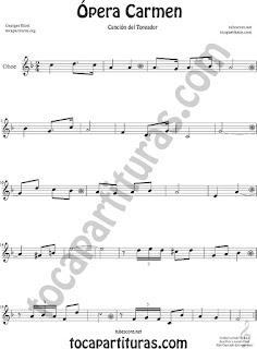 Oboe Partitura de Ópera Carmen de Georges Bizet  Sheet Music for Oboe Music Score