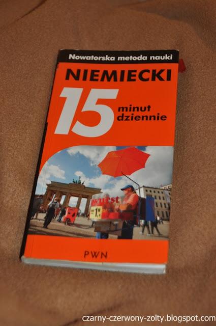 """""""NIEMIECKI-15 minut dziennie""""- dla mnie najlepsza książka na początku nauki języka niemieckiego!"""