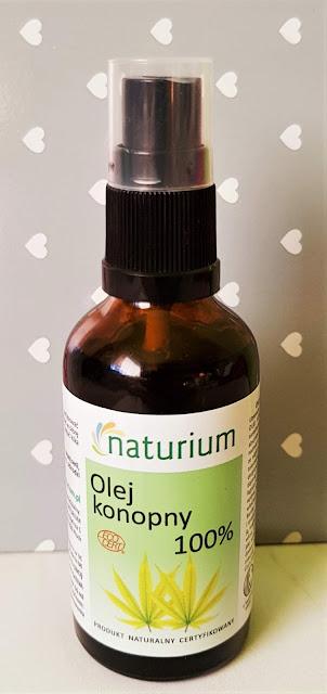 Naturium olej konopny 100% nierafinowany tłoczony na zimno