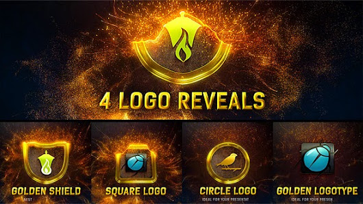 Magic Gold Particles Logo Reveal - After Effects Project (VideoHive)