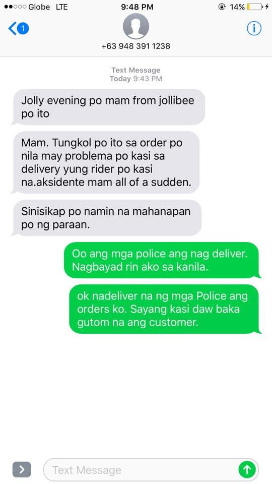 This Girl Ordered From Jollibee But Was Shocked When She Saw Who Delivered Her Food!