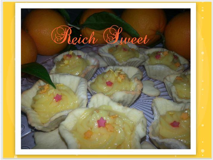orange-custard-tarts, tartaletas-con-crema-de-naranja