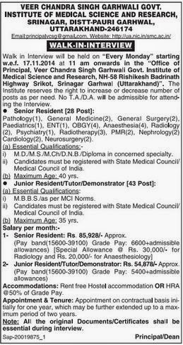 Uttarakhand Govt Medical College Recruitments (www.tngovernmentjobs.in)