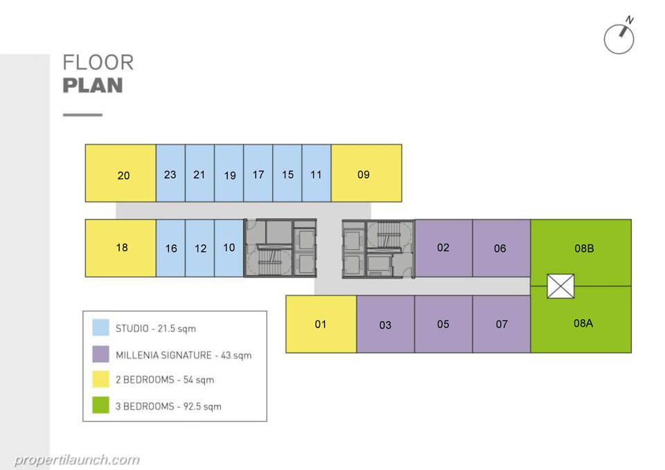 Floor Plan Apartemen The Burj