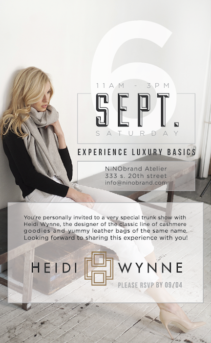 Heidi Wynne to the atelier for a special trunk show