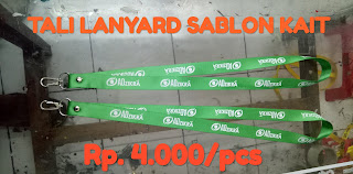 Pusat grosir tali lanyard murah di Bekasi