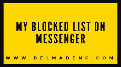 My Blocked list on Messenger