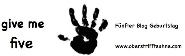 Blog Event Zum 5 Geburtstag Give Me Five