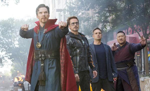 Marvel superheroes unite to defend New York City in AVENGERS: INFINITY WAR (2018)